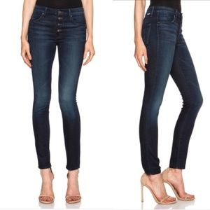 MOTHER Pixie Button Fly Skinny Jeans